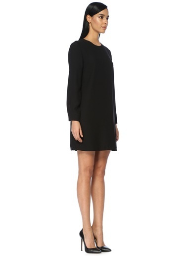 Uzun Kollu Mini Elbise-Beymen Collection
